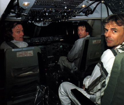 David Gilmour Pilote Cockpit